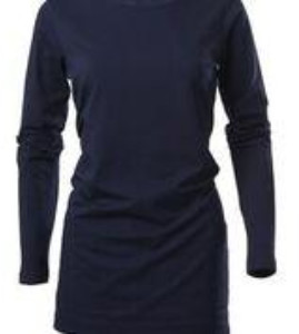 cove cashmere - Cove Long Length Navy Jersey T Shirt - Small