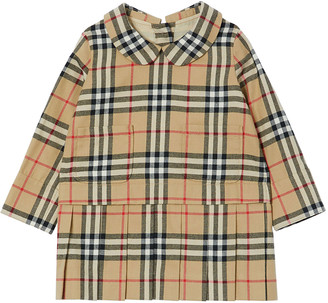 Burberry Girl's Melanie Peter Pan Collar Vintage Check Dress, Size 6M-2