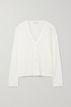 FRANCES DE LOURDES Sammy Cashmere And Silk-blend Cardigan - White