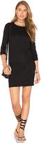 Bobi Supreme Jersey Long Sleeve Knot Mini Dress