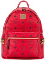 MCM gold-tone hardware small backpack - women - Leather/Polyester/metal - One Size