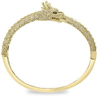 Effy 14K Yellow Gold, White & Espresso Diamond Bangle Bracelet