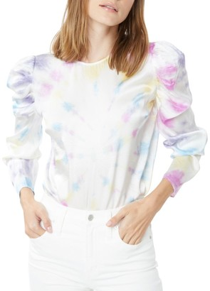 Generation Love Penelope Tie-Dye Puff-Sleeve Blouse
