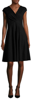 Armani Collezioni Cap Sleeve A-Line Dress