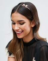 Asos Occasion Rose Gold Bow Headband