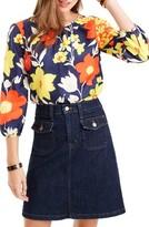 J.Crew Women's Vintage Floral Silk Top