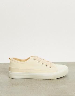 Rubi jenna lace up canvas sneakers in ecru