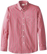 Dockers No Wrinkle Long Sleeve Button-Front Shirt, Red, X-Large
