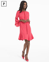 White House Black Market Petite Bell-Sleeve Shift Dress