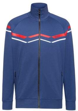 HUGO Oversize-fit sweatshirt with retro zigzags in cotton blend