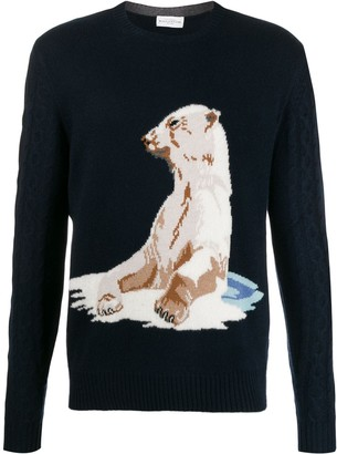 Ballantyne Bear knit jumper