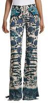 Roberto Cavalli Floral Denim Jeans