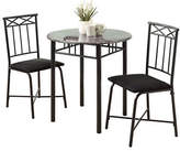 Monarch Three-Piece Marble-Look Dining Set