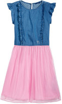 GUESS Denim Mesh Dress, Big Girls (7-16)