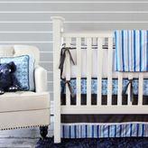 Caden Lane 2-Piece Luxe Blue Damask Crib Bedding Collection