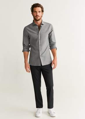 MANGO Slim fit cotton shirt
