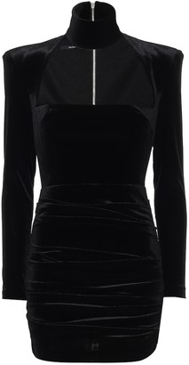 Alex Perry Ashton stretch-velvet dress