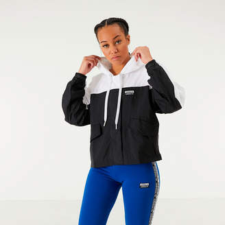 adidas Women's Colorblock Windbreaker Jacket