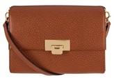 Lodis Stephanie Under Lock & Key - Small Eden Leather Crossbody Bag - Brown