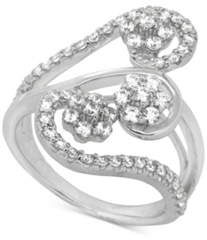 Macy's Wrapped In Love Diamond Abstract Statement Ring (1 ct. t.w.) in 14k White Gold, Created for