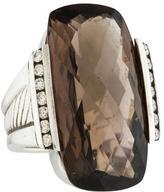 David Yurman Smoky Quartz & Diamond Cocktail Ring