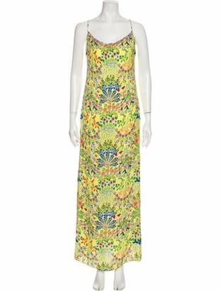 Alice + Olivia Printed Long Dress w/ Tags Yellow