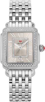 Michele Deco Madison Mid Diamond Watch, Silver
