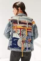 Blank NYC BLANKNYC Liquid Summer Embroidered Denim Trucker Jacket