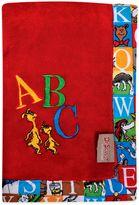 Dr. Seuss Dr. SeussTM by Trend Lab® Alphabet Seuss Coral Fleece Receiving Blanket