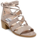 Stevies Girls' #GLAMOUR Block Heel Ghillie Sandals - Stone