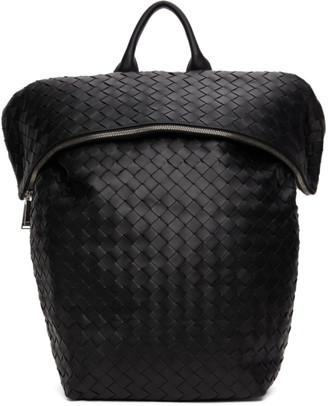 Bottega Veneta Black Nappa Intrecciato Medium Backpack