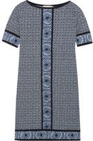 MICHAEL Michael Kors Edo Printed Stretch-jersey Mini Dress - Blue