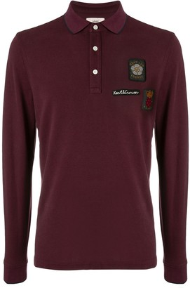 Kent & Curwen Crest Embroidered Rugby Shirt