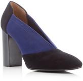 Aquatalia Valeria Weatherproof Color Block High Heel Pumps