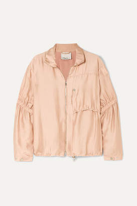 3.1 Phillip Lim Ruched Gauze Jacket - Blush