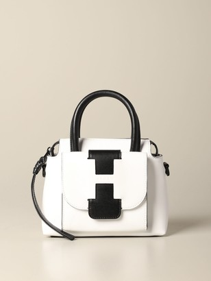 Hogan Handbag Leather Bag With External Pocket And Logo