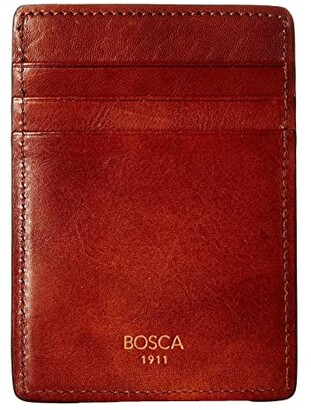 Bosca Dolce Collection - Deluxe Front Pocket Wallet (Amber) Bi-fold Wallet