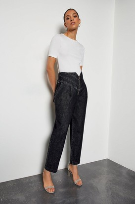 Karen Millen Washed Black Jeans