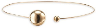 Lana Two-Hollow Ball 14K Yellow Gold Choker Necklace