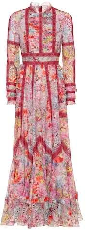 Valentino Jardin de Fleurs cotton-blend gown