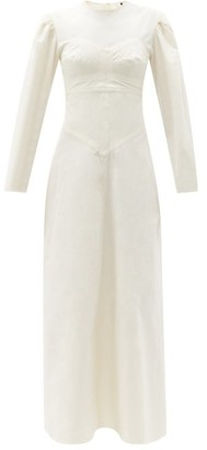 Isabel Marant Taylin Panelled Cotton Maxi Dress - Ivory