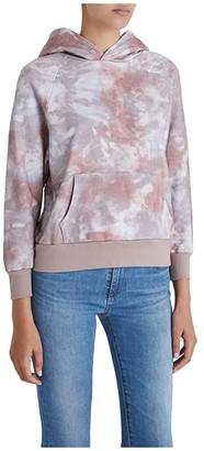 AG Jeans Cali Sweatshirt (Abstract Tie-Dye Rocky Mauve) Women's Clothing