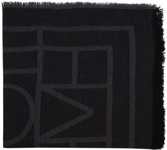 Totême Tonal Monogram Knit Scarf