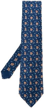 Hermes 2000s Pre-Owned Bear Pattern Tie