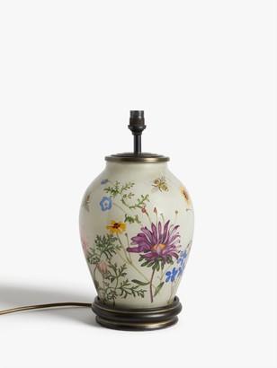 Jenny Worrall Wild Flowers Glass Lamp Base, Multi, H34cm