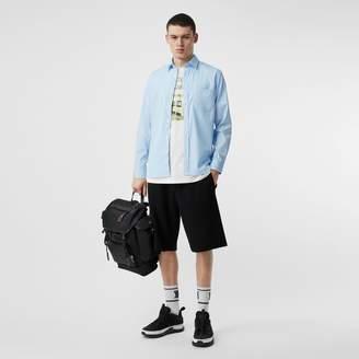 Burberry Monogram Motif Stretch Cotton Poplin Shirt