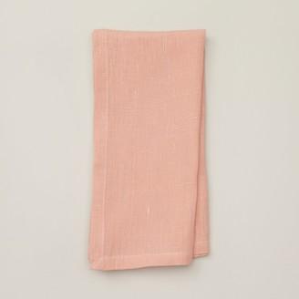 Indigo Solid Linen Napkin Salmon Set Of 4
