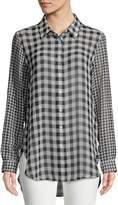 Calvin Klein Women's Gingham Button-Down Shirt