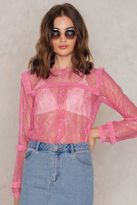 For Love & Lemons Stardust Lace Blouse
