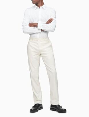 Calvin Klein Slim Fit Linen Blend Suit Pants